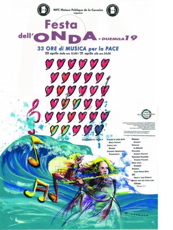 Festa dell'Onda 2019 - 33 ore di Musica per la Pace - MPC - Aosta